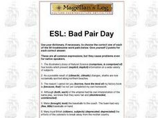 ESL: Bad Pair Day Worksheet