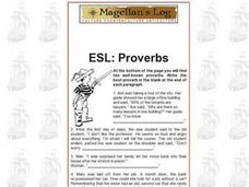 ESL: Proverbs Worksheet