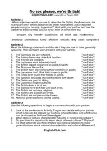 No Sex Please, We're British! Worksheet