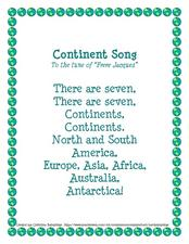 Continent Song Lesson Plan