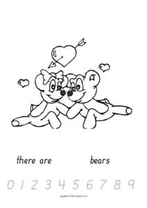 Counting Valentine Bears Worksheet