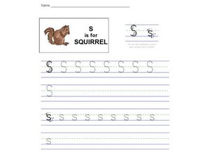 S Is For Squirrel Worksheet