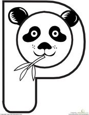 P Is For Panda Worksheet