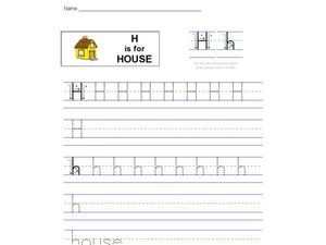 H Is For House Worksheet