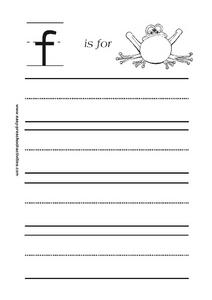 F is for Frog Worksheet