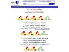 5 Little Caterpillars Worksheet