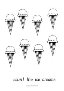 Count the Ice Creams Worksheet