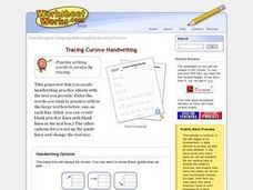 Tracing Cursive Handwriting Lesson Plan