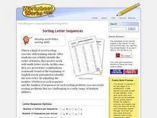 Sorting Letter Sequences Worksheet Creator Worksheet