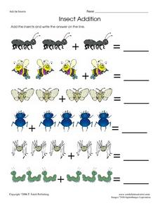 Insect Addition Worksheet