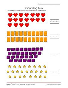 Counting Fun-- Numbers to 30 Worksheet