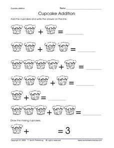 Cupcake Addition Worksheet