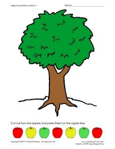 Apple Cut and Paste Activity 1 Worksheet