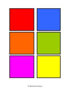 Color Cards- Squares Worksheet