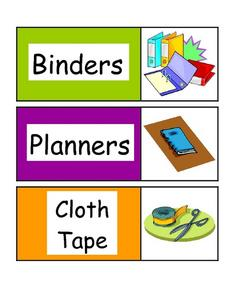 Classroom or Center Signs Worksheet