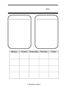 Blank Calendar Worksheet Worksheet