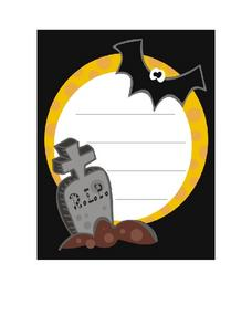 Halloween Writing Paper Worksheet
