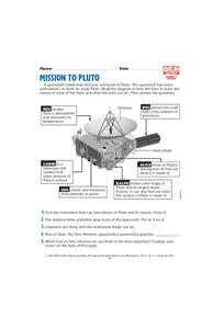 Mission to Pluto Lesson Plan