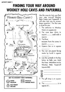 Finding Your Way Around Wookey Hole Caves and Papermill Worksheet