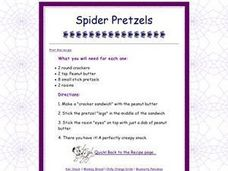 Spider Pretzels Worksheet