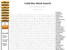 Cold War Worksheet