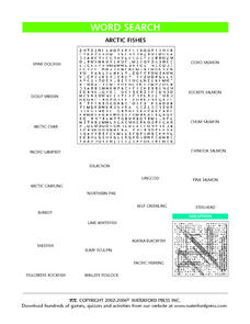 Word Search: Arctic Fishes Lesson Plan