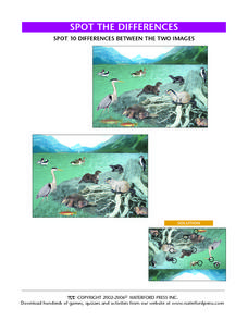 Spot the Differences-- Animals by the Mountain Lake Lesson Plan