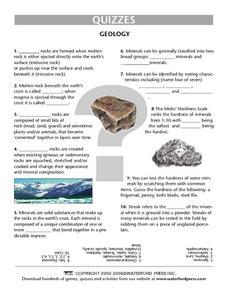 geology worksheets