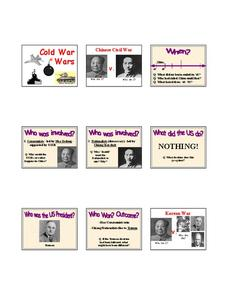 Cold War Wars Lesson Plan