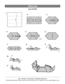 Sea Otter Origami Directions Lesson Plan