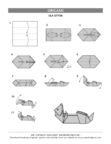 sea otter origami directions lesson plan for 3rd 4th grade lesson planet. Black Bedroom Furniture Sets. Home Design Ideas