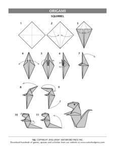 Origami- Squirrel Lesson Plan