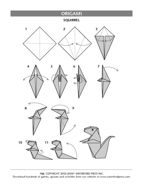 Origami Squirrel - Jo Nakashima | 600x464