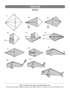 Origami- Whale Lesson Plan
