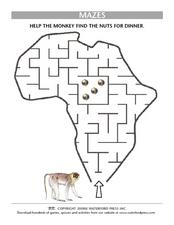 Mazes: Monkeys Lesson Plan