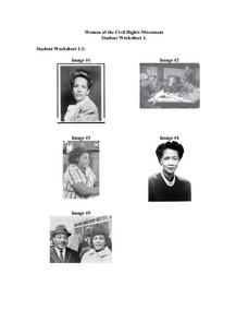 Women of the Civil Rights Movement: Photographs Worksheet