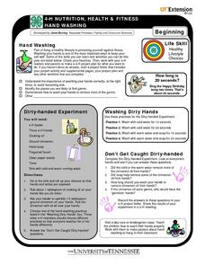 4-H Nutrition, Health & Fitness: Hand Washing Worksheet