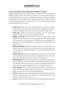 Family Fun (Part 2) Worksheet