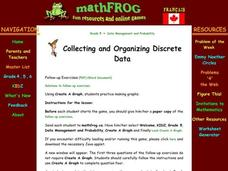 Collecting and Organizing Data Lesson Plan