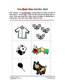 Ten Black Dots Activity Card Worksheet