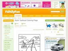 Stylin' Sailboat Coloring Page Lesson Plan