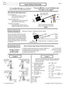 Simple Machines Made Simple Worksheet