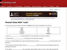 Phrasal Verbs with Look Worksheet