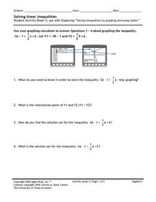 Solving Linear Inequalities 3 Worksheet