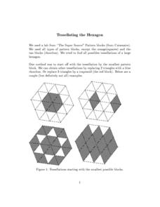 Tessellating the Hexagon Worksheet