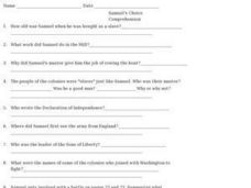 Samuel's Choice: Comprehension Questions Worksheet