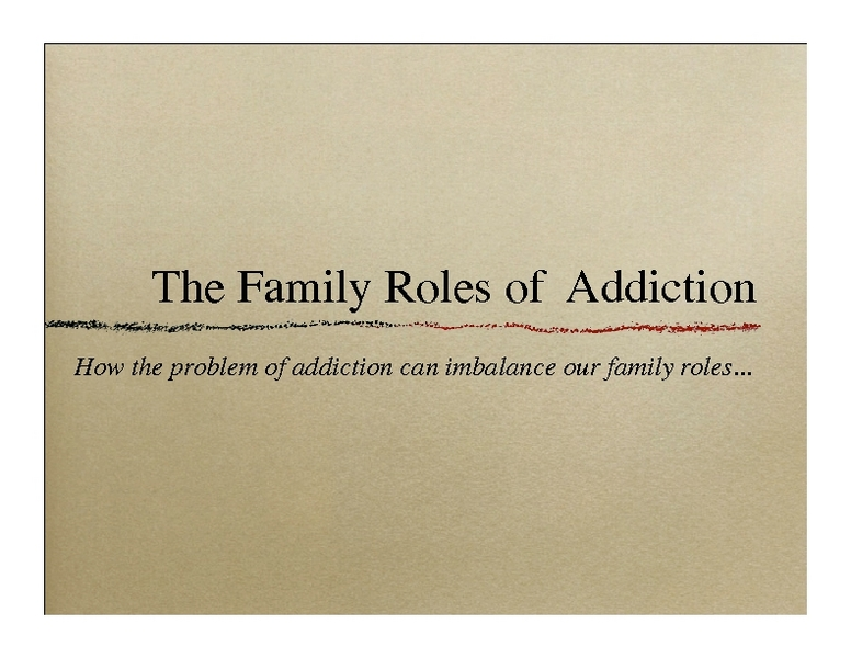 Roles of Family Members Lesson Plans Worksheets – Family Roles in Addiction Worksheets
