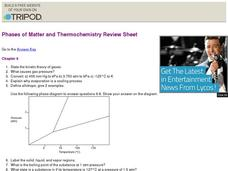 Phases of Matter and Thermochemistry Worksheet