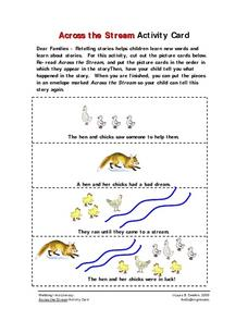 Across the Stream Activity Card Worksheet
