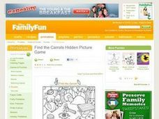 Find the Carrots Hidden Picture Game Lesson Plan
